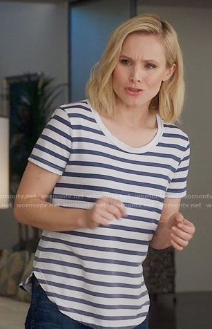 Eleanor\u0027s striped tee on The Good Place in 2019