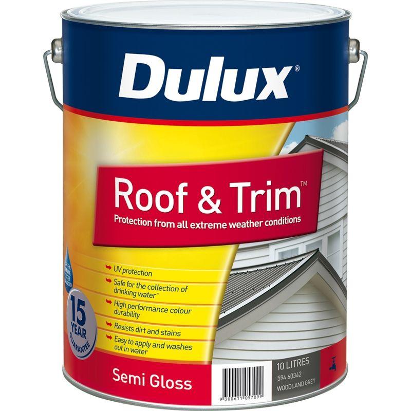 Dulux Roof & Trim 10L Woodland Grey Exterior Paint | Insurance ...