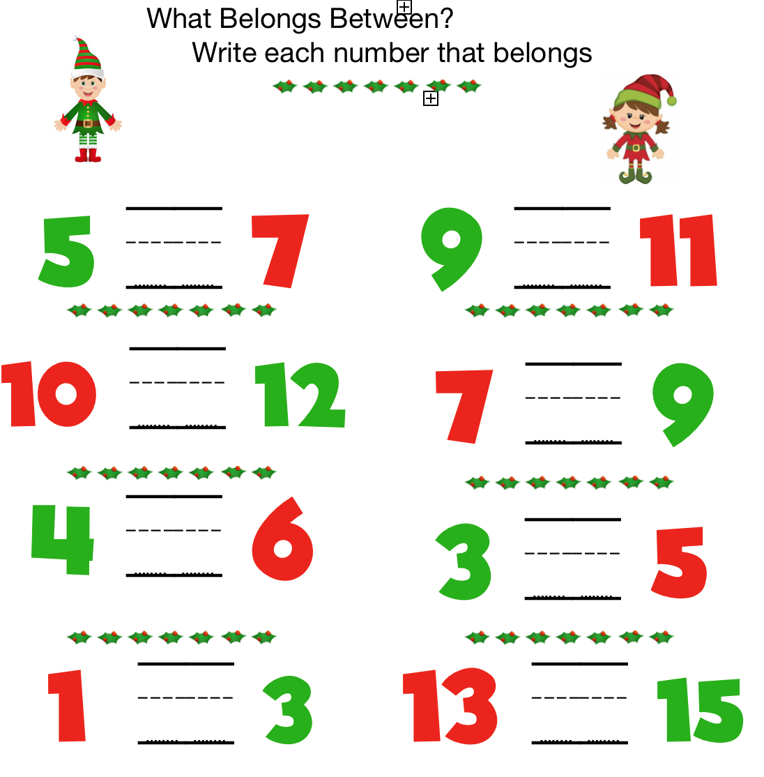 Preschool Math Learning To Count