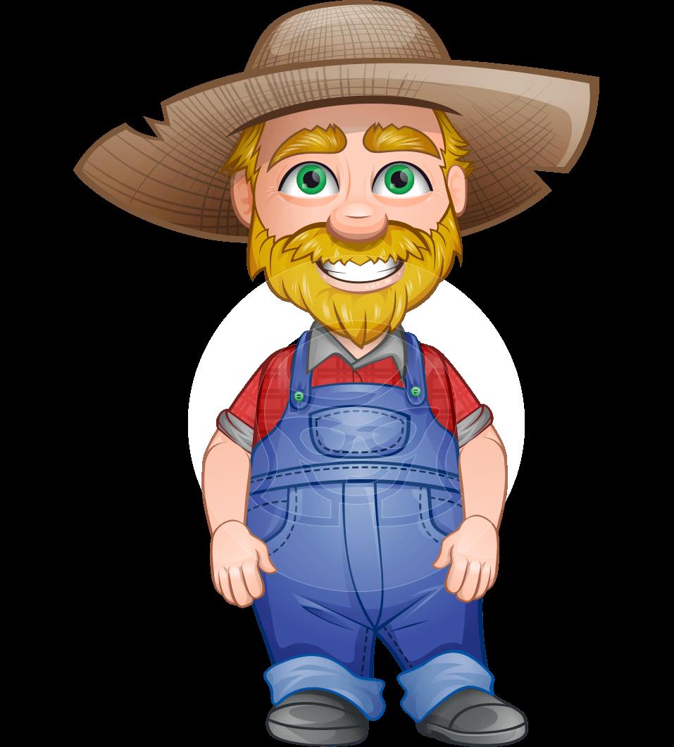 Arn in Papa's Farm: A chubby #farmer #man #vector #cartoon ...
