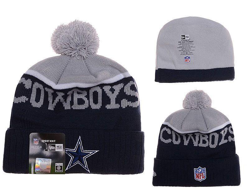 e58dde04bedbc Dallas Cowboys beanie with Pom for men and women