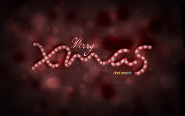 Beautiful Xmas Wallpaper in Cinema 4D and Photoshop Design