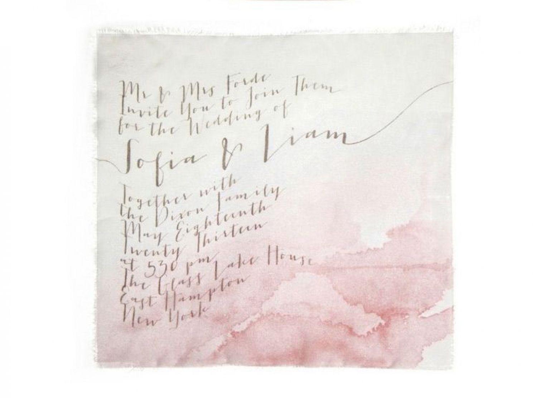 Beach Wedding Invitations / Fluid Calligraphy / by Bliss & Bone ...