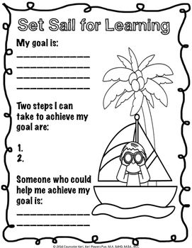 Goal Setting Activity School Counseling Classroom Guidance