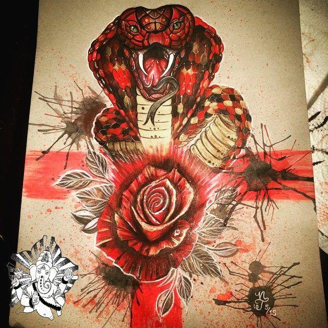 Rose tattoo trash polka snake tattoo abstract tattoo water for Abstract rose tattoo
