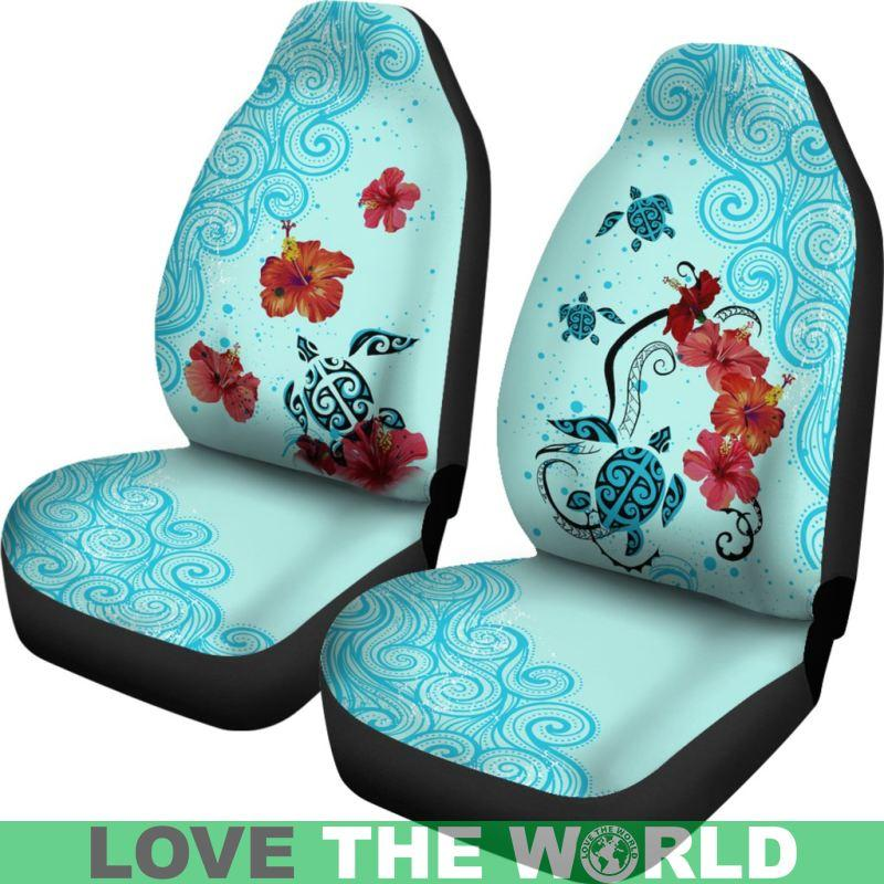 Astounding Sea Turtle Hawaiian Car Seat Covers Set Of 2 Universal Uwap Interior Chair Design Uwaporg