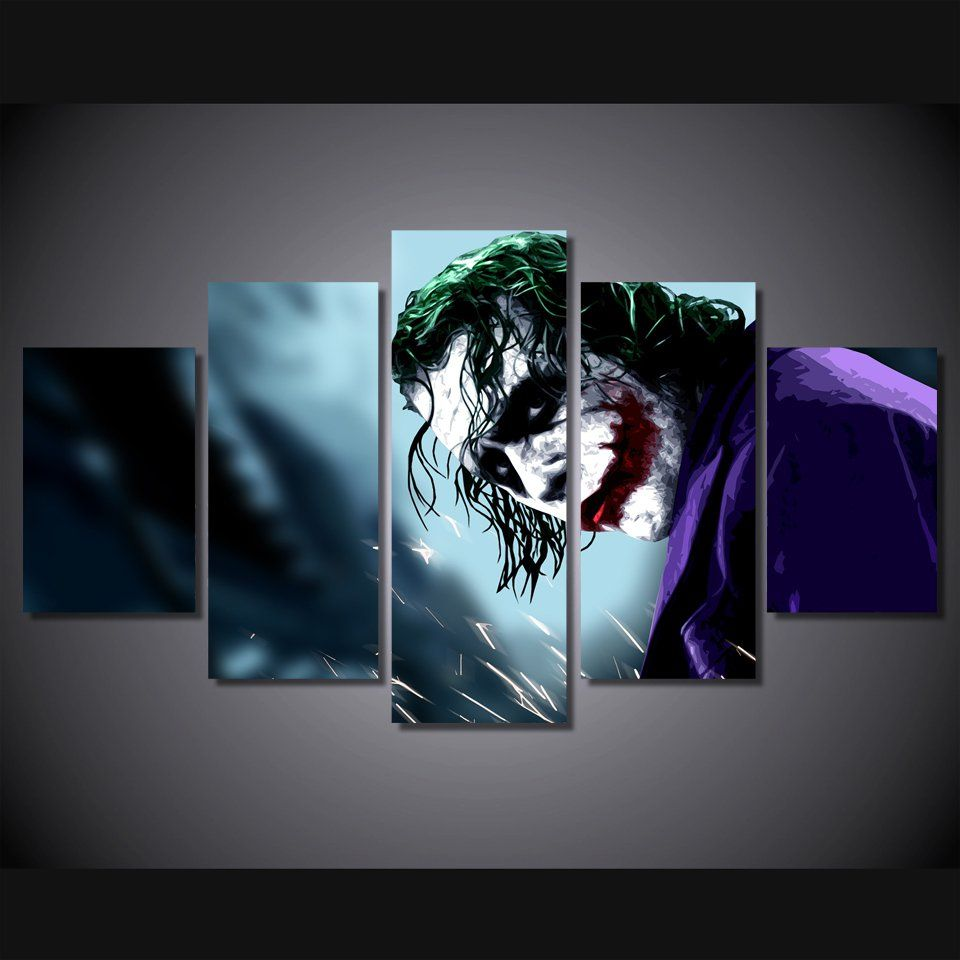 JOKER OIL PAINT PICTURE RE PRINT ON FRAMED CANVAS WALL ART HOME DECORATION