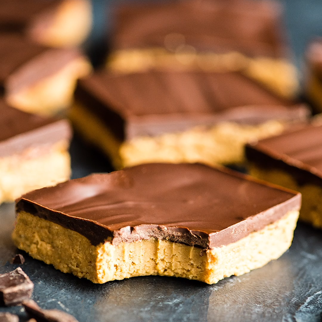 No-Bake Chocolate Peanut Butter Bars Recipe images