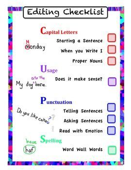 cups worksheet editing elementary - Google Search | Projects to ...