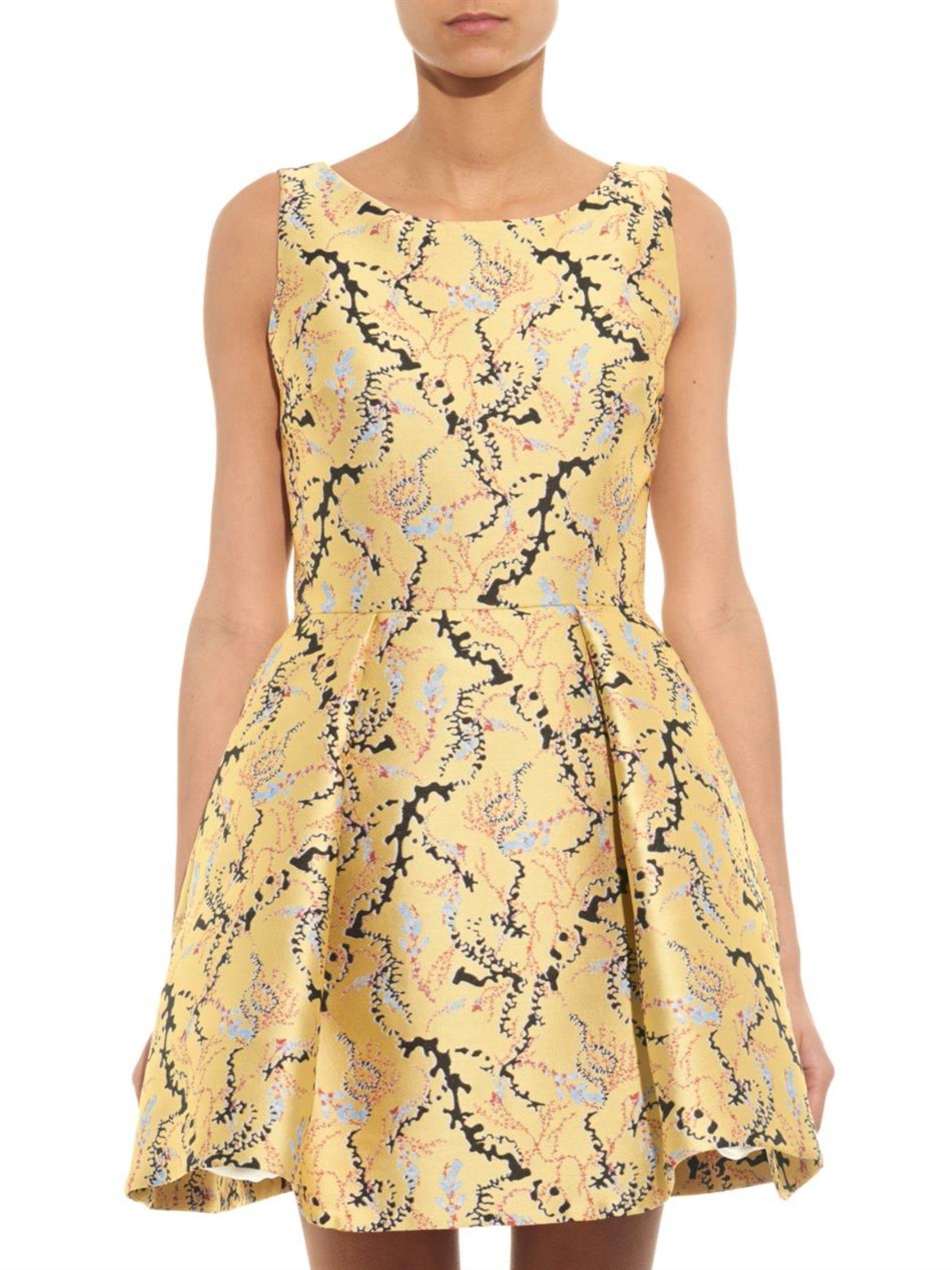 63ec2833008 JQ Copelia seaweed-jacquard dress
