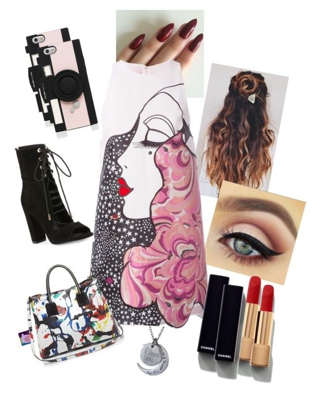 """""""Untitled #3"""" by justno-stop ❤ liked on Polyvore featuring Giamba, Chanel, Kendall + Kylie, Milly and Kate Spade"""