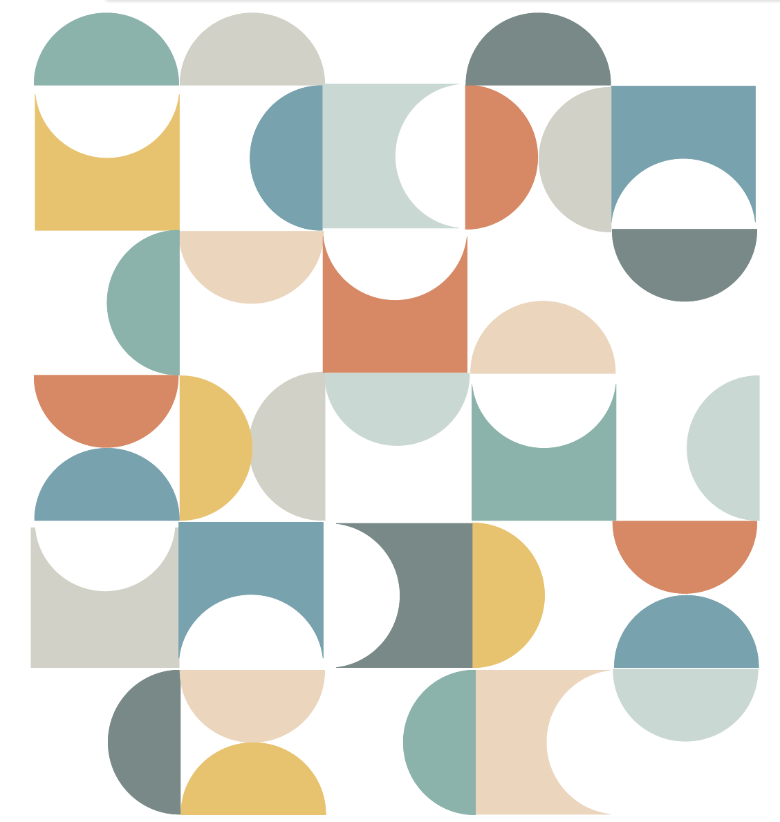 Geometric Multicolor Mid Century Modern Wall Decals ...