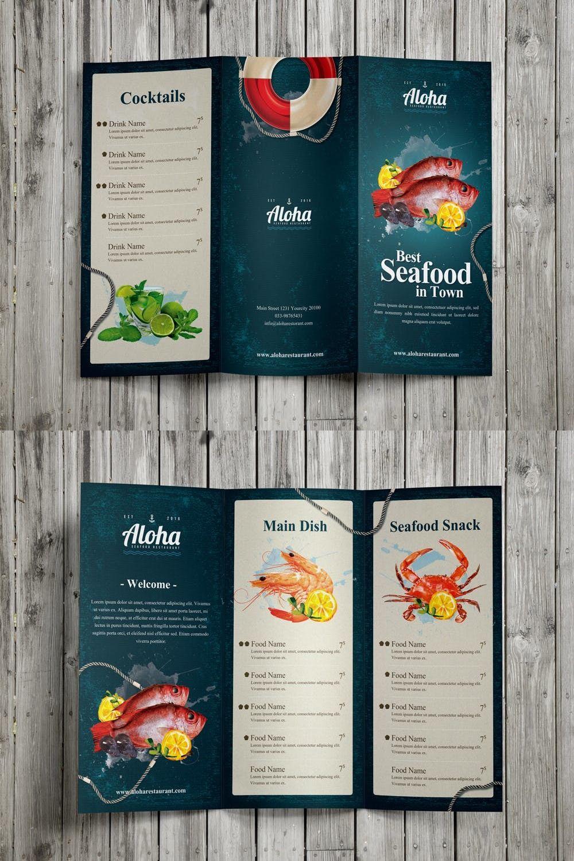 seafood menu 3 fold adobe photoshop menu psd menu designs