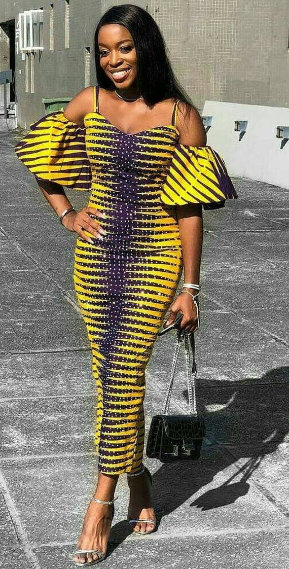 African women clothing, African prints, African maxi dress.