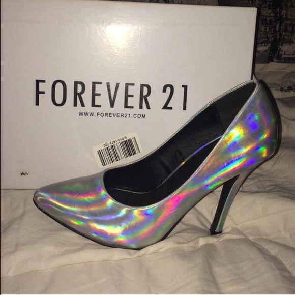 4737d85d45d Forever 21 Shoes - Holographic rainbows heels!