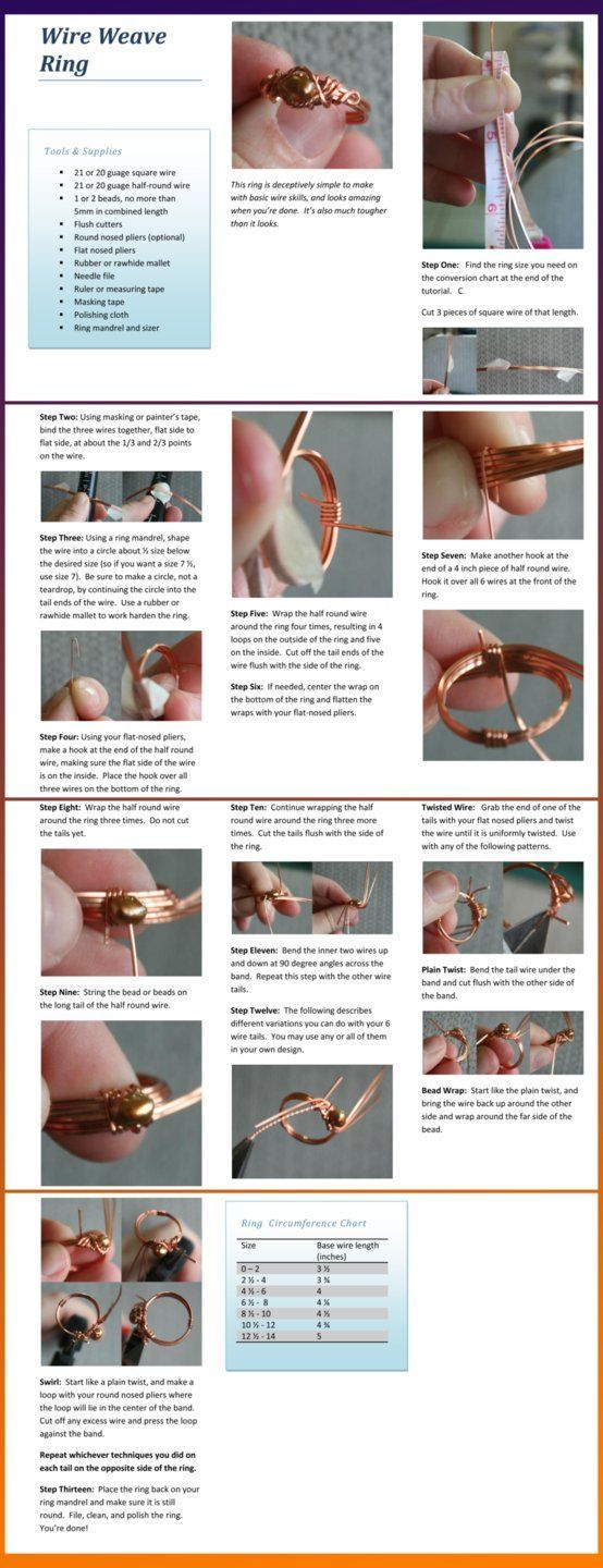 Wire Weave RingFree Diy Jewelry Projects | Learn how to make jewelry ...
