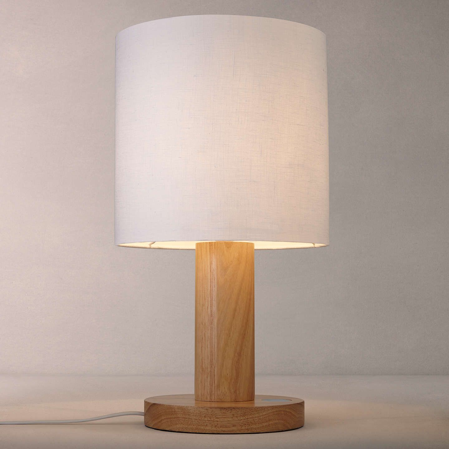 John lewis slater wood touch table lamp touch table lamps john buyjohn lewis slater large wooden touch lamp light wood online at johnlewis geotapseo Image collections