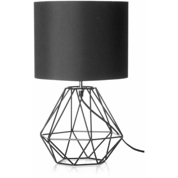 Geometric Table Lamp Black Kmart 14 Liked On Polyvore Featuring Home Lighting Table Lamps Bla Geometric Lamp Black Table Lamps Geometric Table Lamp