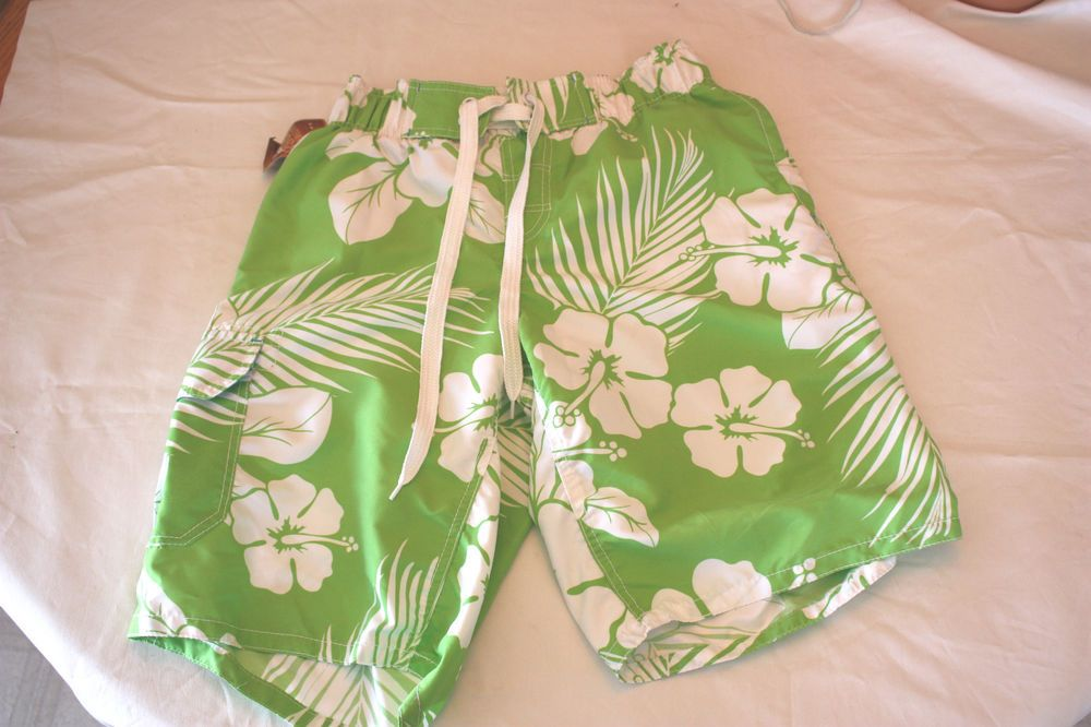 NWT ARIZONA Men's Lined Swimtrunks Swimwear Bottoms LimeGreen SZ M 11.5 Inseam