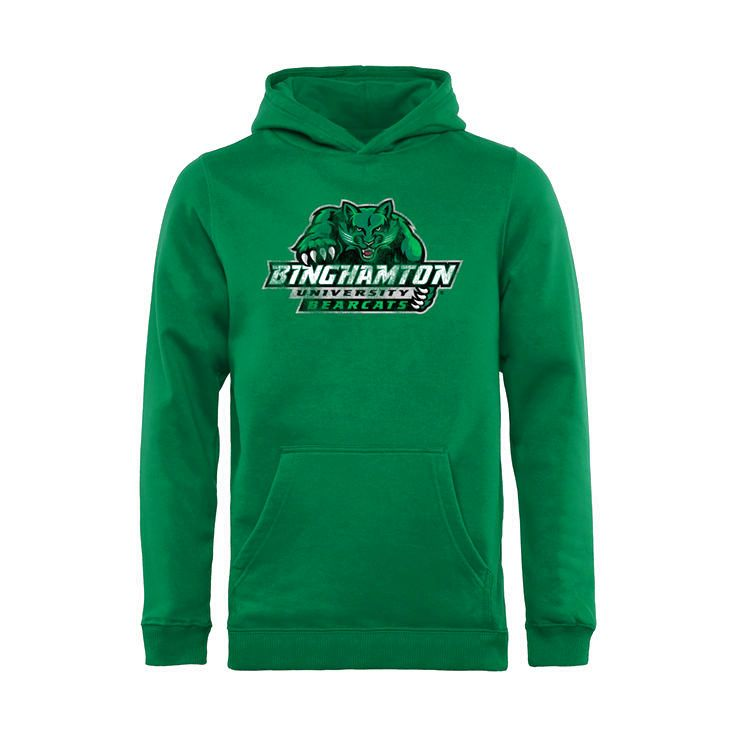 Binghamton Bearcats Youth Classic Primary Pullover Hoodie - Green - $54.99