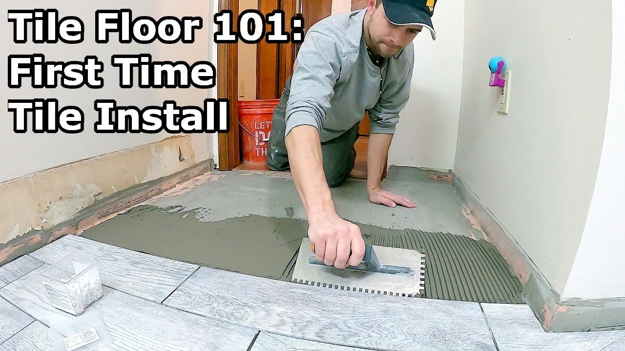 Tile Floor 101 Step By Step How To Install Tile For The First Time Tile Installation Tile Floor Flooring