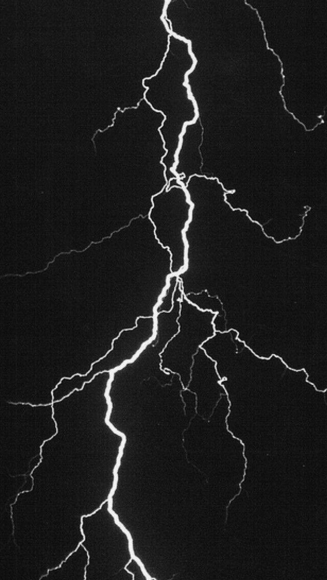 Black Thunderstorm Thunder Lightning Sky World Iphone Wallpaper Lightning Tattoo Lightning Iphone Black