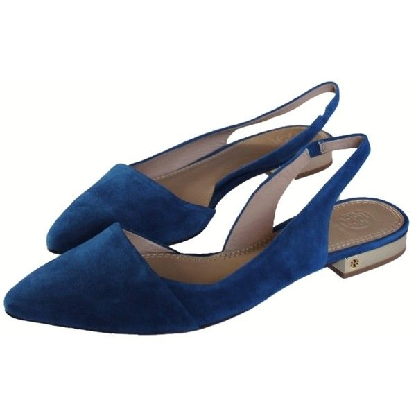 b08653affb918 Pre-owned Tory Burch Greek Blue Brand New In Box Classic Pointy Toe ...