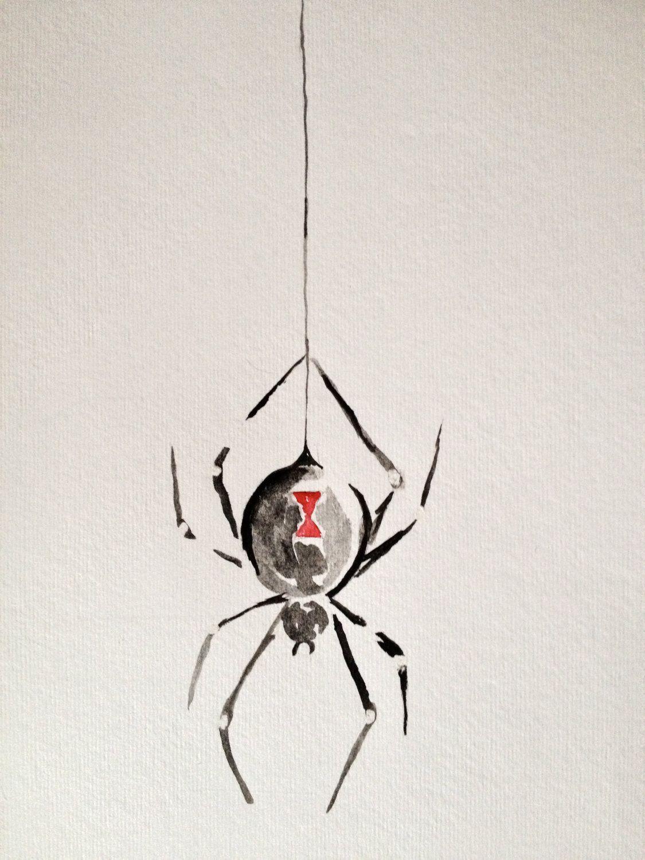 Black Widow Spider Watercolor Painting | art | Pinterest | Black ...