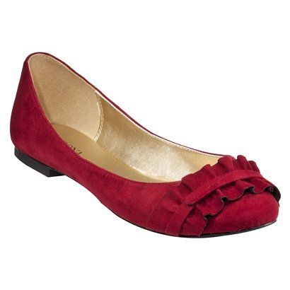 Women's Merona Meaghan Ruggled Flat Shoes-Cranberry (From Target) there are lots of colors! and I want them!