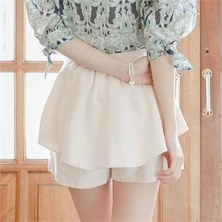 Zip-Side Layered Shorts from #YesStyle <3 Attrangs YesStyle.ca