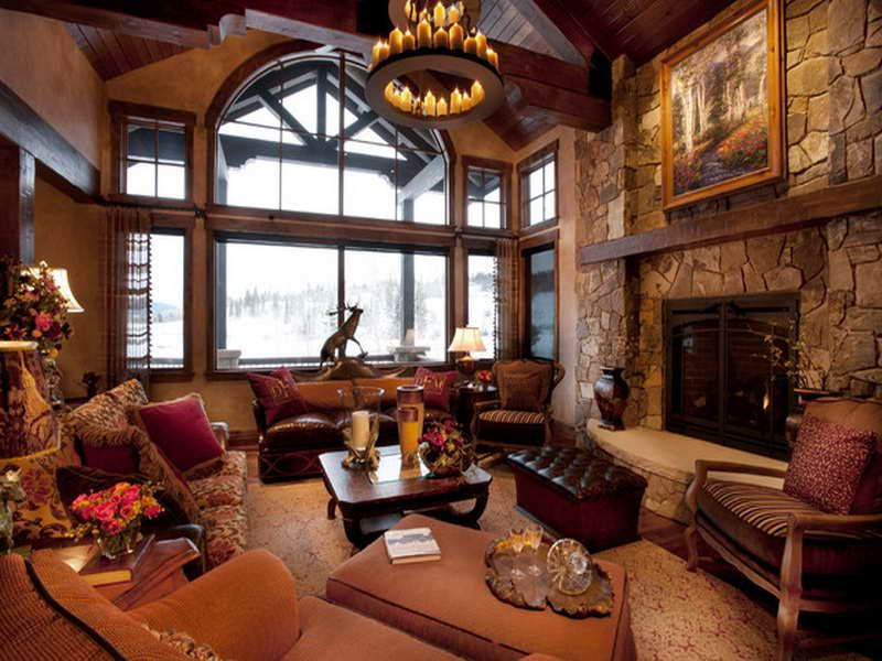 Rustic country living room ideas other picture ofrustic for Country style family room ideas