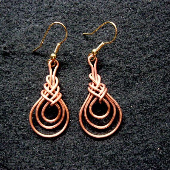 Woven Wire Earrings Celtic gipsy | Aludraht, Draht und Drahtschmuck
