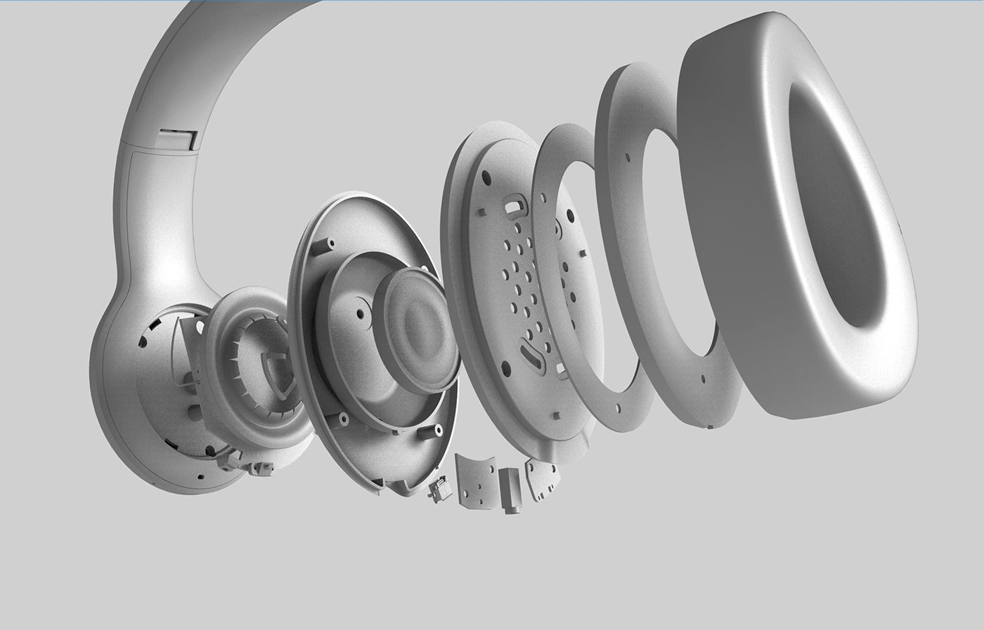 Jbl Everest Headphones On Behance Headphone Sketch Headphones