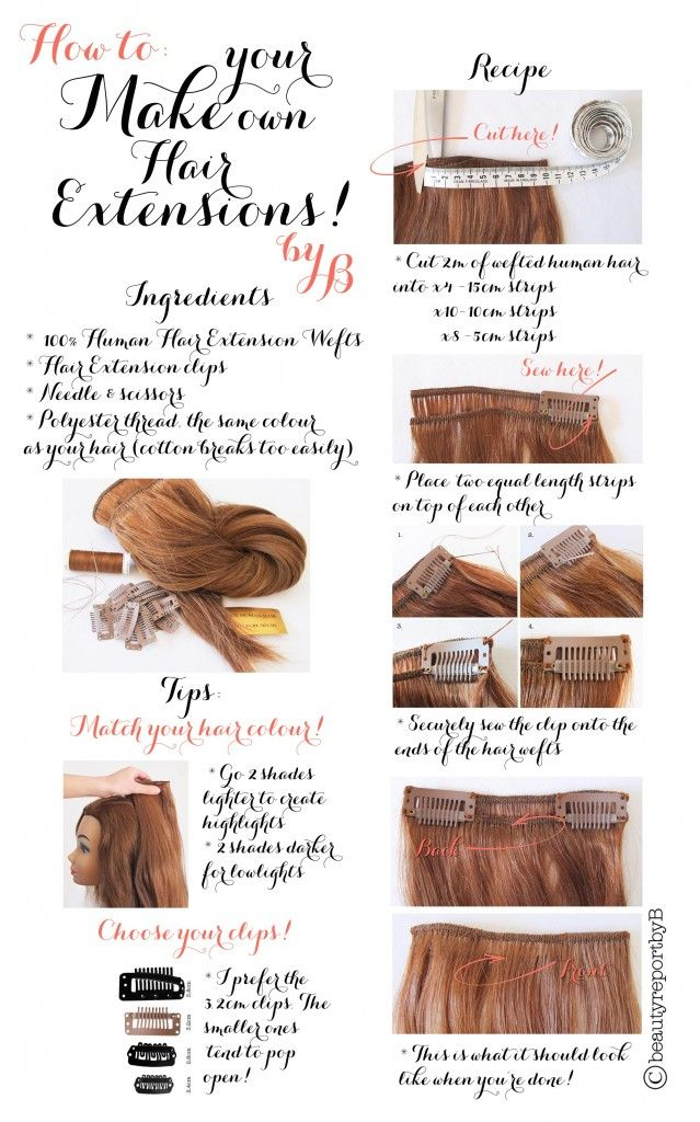 How To Make Your Clip On Hair Extensions... - Oh You Crafty Gal