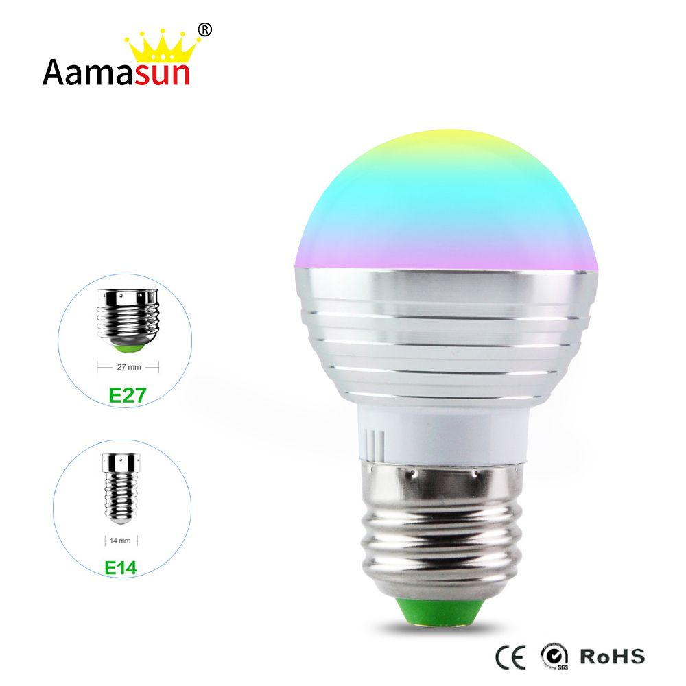 E27 Rgb Led Lampe Ampoule Ac110v 127 V 220 V E14 Led Lumiere Rgb 5 W Spot Light 16 Changement De Couleur Dimmable Lampada Led Luz Lamp Bulb Led Lights Rgb Led