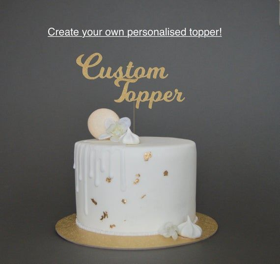 Personalised Custom Cake Topper, Any text cake topper
