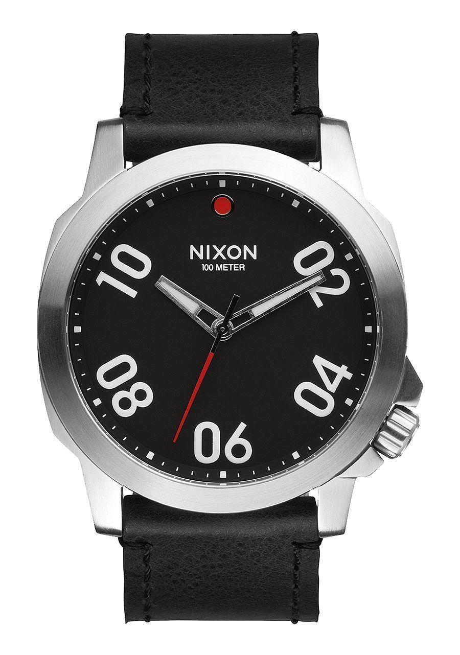 6edebe9257b7 Nixon Mens Watch Ranger 45 Leather