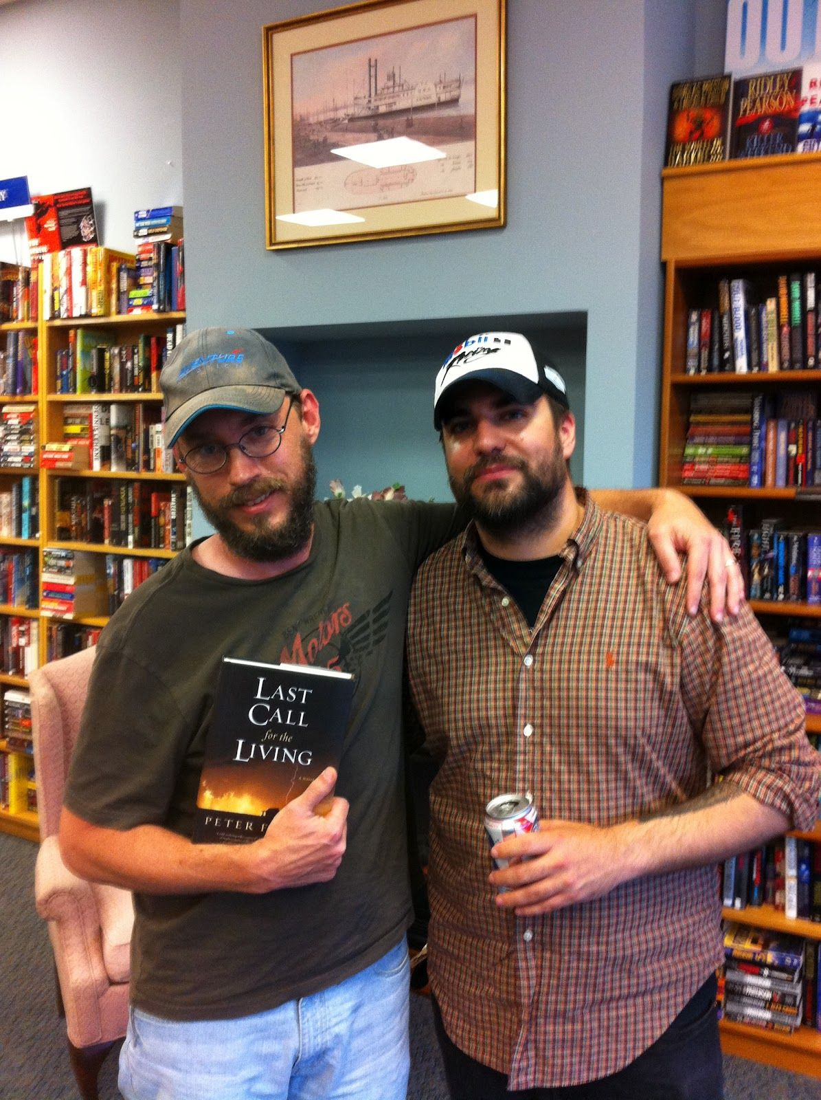 Peter Farris (on left: author of 'Last Call for the Living.') & Grant Jerkins (on right: author of 'A Very Simple Crime,' 'At the End of the Road,' & 'The Ninth Step.')       -------      http://peterfarris.blogspot.com       http://www.grantjerkins.com