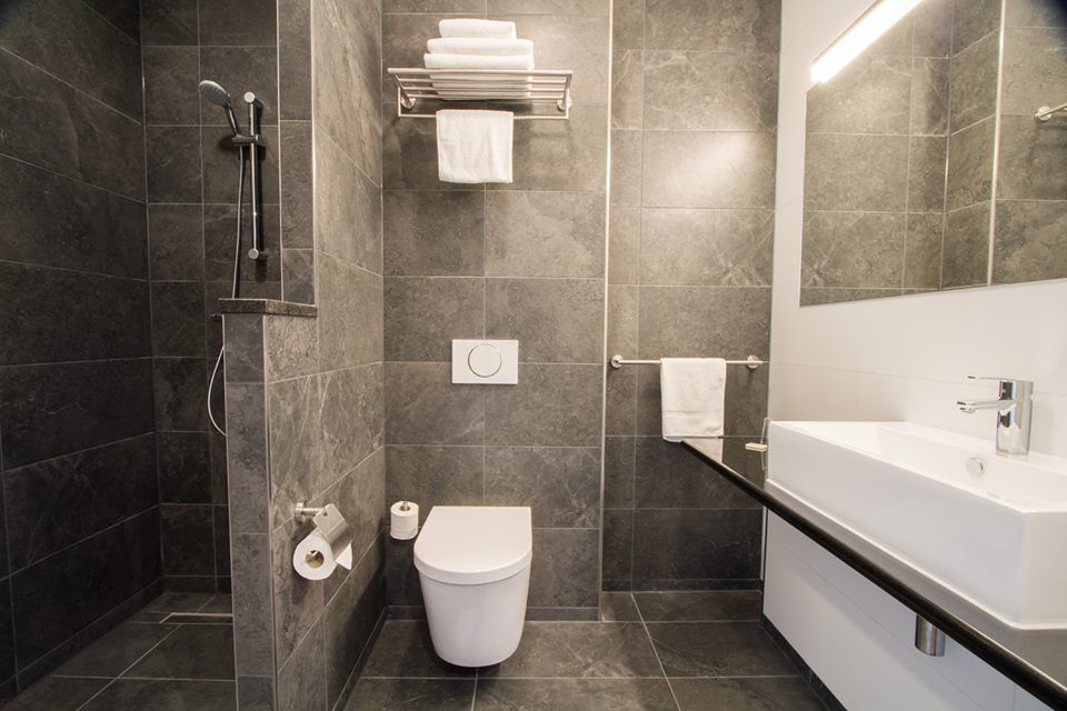 We love this project from Nederland. In Bastion Hotels used our #Stonebox, #ArdesiaAlmond and #ArdesiaNatural collections in bathrooms and dinner-room.