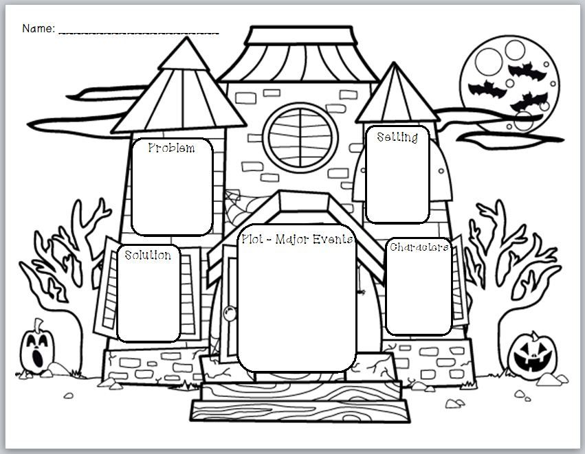 u0026quot haunted house story elements u0026quot  graphic organizer