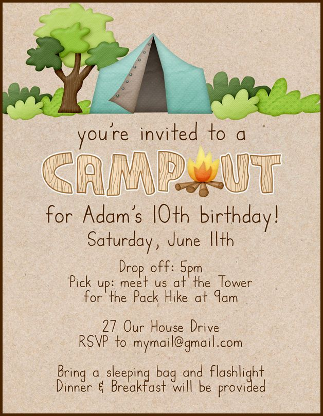 Image result for camp out birthday invitations dominic 10th image result for camp out birthday invitations dominic 10th birthday pinterest birthdays 10th birthday and birthday party ideas filmwisefo