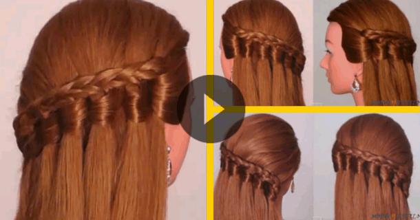 Peinado Con Trenzas Y Pelo Suelto Paso A Paso Pelo Up Hairstyles