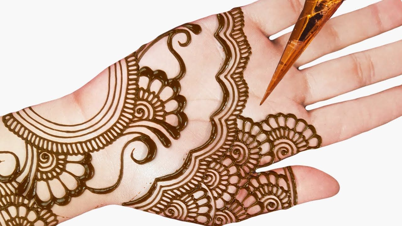 easy mehndi designs for beginners step by step for front hand