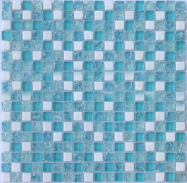Crystal Glass Mosaic Tile Sheet STBL001 Kitchen Backsplash Tile ...