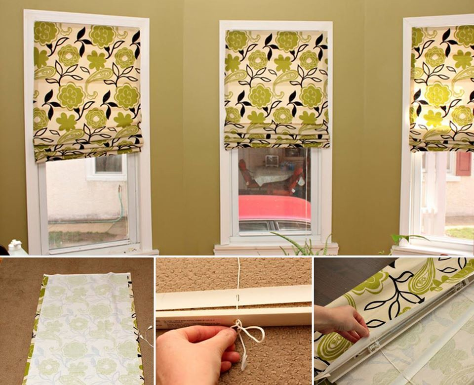 No Sew Faux Roman Blinds Ideas Video Instructions Fabric