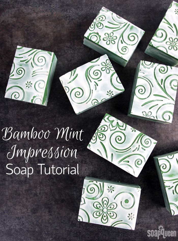 Bamboo Mint Impression Cold Process Soap Tutorial