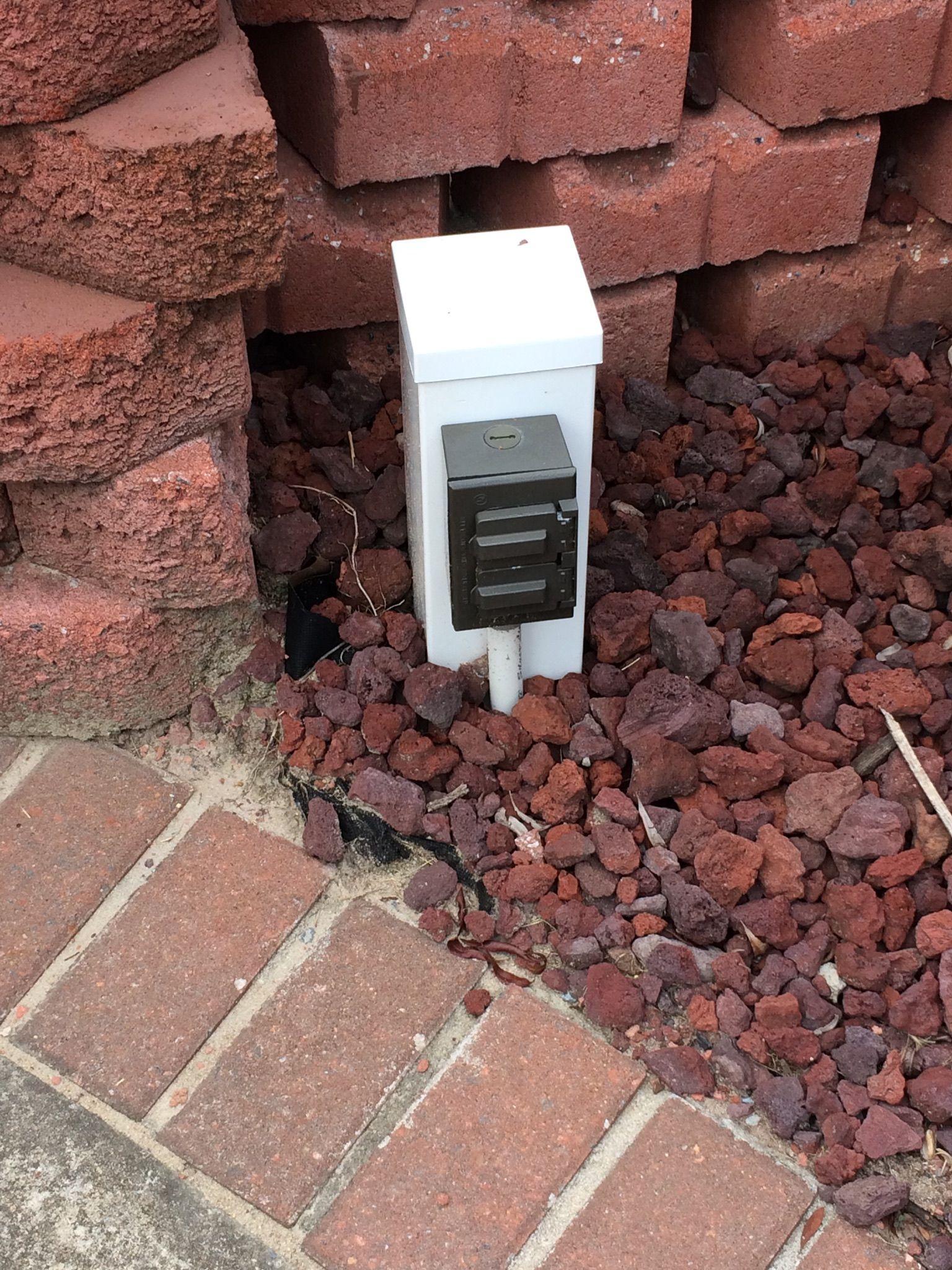 Outdoor Outlet Outdoor Outlet Outdoor Electrical Outlet Backyard Remodel