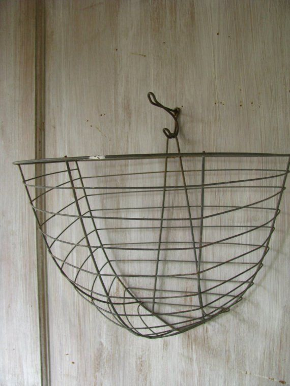Reserved 3 Wire Plant Baskets Wall Hanging By Littlebyrdvintage Baskets On Wall Plant Basket Wire Wall Basket