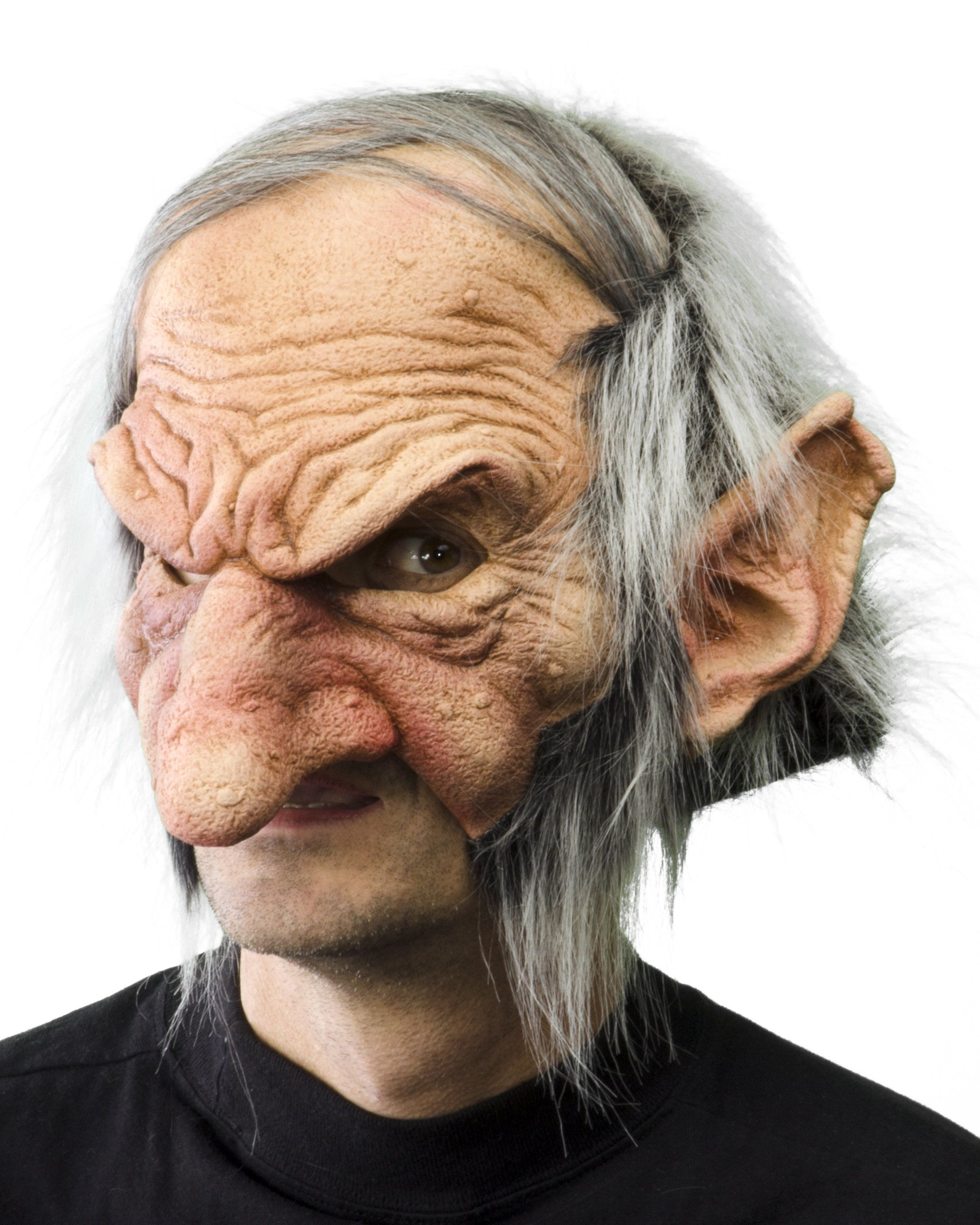 Harry Potter Halloween Party 2020 Dc Gobblin Gnome Mask Soft White Hair Old Man Wrinkles Halloween