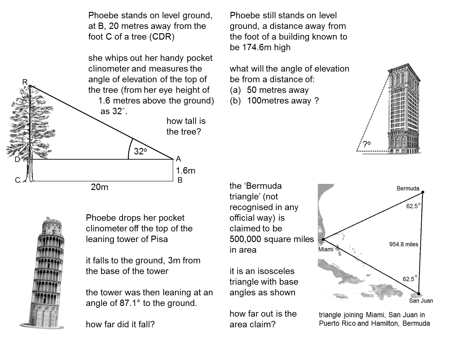 Worksheets Trigonometry Word Problems Worksheet resourceaholic teaching trigonometry pinterest trigonometry